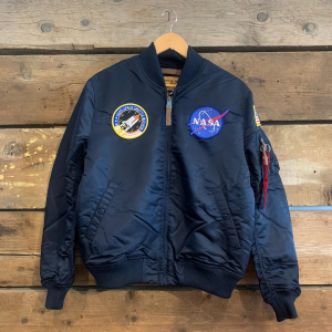 Giacca Bomber Alpha Industries con Patch Nasa Blu Navy