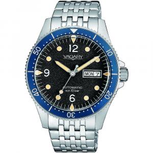 Vagary G.Matic Aqua 105th, cassa e bracciale acciaio, nero - blu