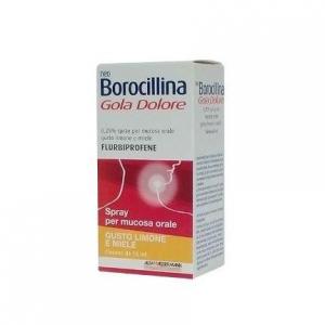 NeoBorocillina Gola Dolore 37,5 mg - Flaconcino spray 15 ml Limone e Miele