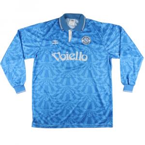 1992-93 Napoli Maglia Match Worn vs Udinese #4 F.Pari L Autografata