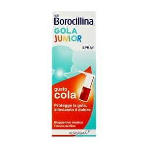 NeoBorocillina Gola Junior Spray Mal di Gola-gusto cola