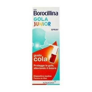 NeoBorocillina Gola Junior Spray Mal di Gola-gusto cola