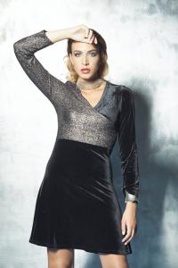 Abito bicolore da sera | abbigliamento donna chic online