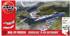 Mig 17 & Douglas Skyhawk Dogfight Double