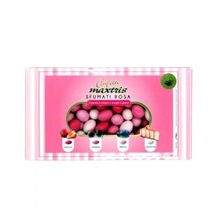 Maxtris confetti sfumati rosa gusti assortiti frutta e dolce