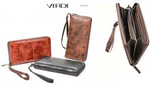 Portafoglio Verde Fashion | Portafogli ecopelle effetto vintage