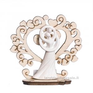 Albero della Vita con Sposi in gesso 7 cm - Bomboniera matrimonio