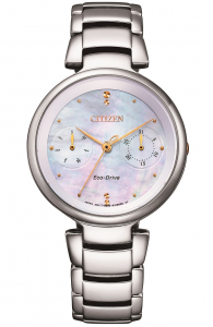 Citizen Lady L collection, calendario completo, quadrante madreperla