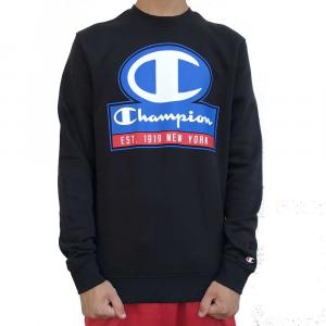 Champion Felpa Logo Black da Uomo