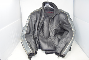 Sport Motorcycle Suit Man Dainese Black Leather,size 50 Trousers And 52 Jacket