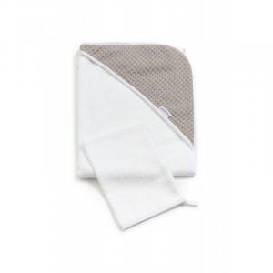 Accappatoio per neonato Bagno Duo Soft Stone Warm Grey