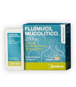 Fluimucil Mucolitico 200 mg - 30 Bustine senza zucchero