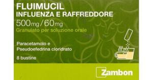 Fluimucil Influenza e Raffreddore-8 Bustine 500 mg + 60 mg