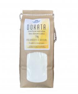 DORATA - Farina di grano tenero italiano ideale per impasti friabili e croccanti - 1KG