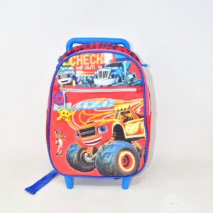Backpack Trolley Kids Blaze Red Blue 32x23cm