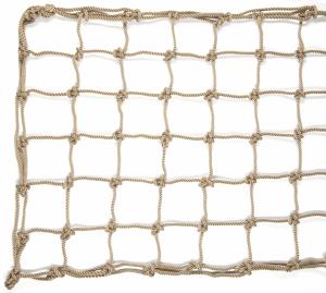 Rete da arrampicata in poliestere effetto corda naturale