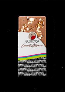 Tavoletta di Cioccolato al Latte 35% con Croccante di Nocciola, confezione da gr 80