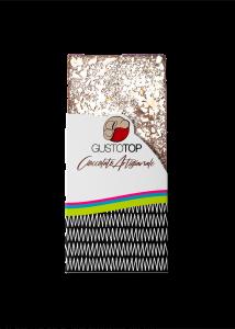Tavoletta di Cioccolato fondente al 61% con Granella di Torrone, confezione da 80 gr