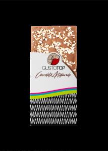 Tavoletta di Cioccolato al Latte 35%, con Granella di Nocciola, confezione da gr 80