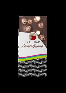 Tavoletta di Cioccolato Fondente al 72% con Nocciola,confezione da 80 gr