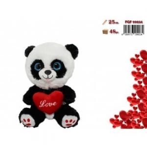 FGF Panda Con Cuore Rosso e Scritta
