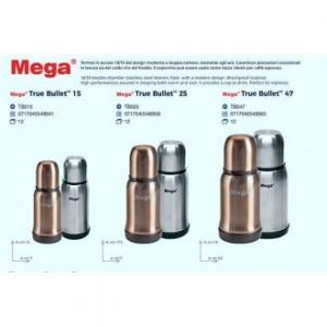 Uniflame Mega True Bullet Termos 0,25 Lt In Acciaio Grigio o Gold Bevande Calde