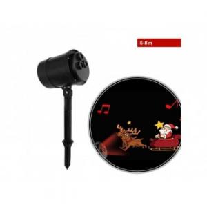 Proiettore Luci Led con proiezione Slitta di Babbo Natale in movimento e musica