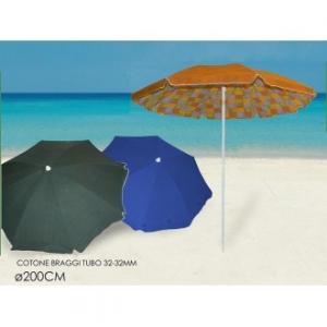 Ombrellone Da Spiaggia Duplex 200 cm Con Snodo Disponibile In Varie Colorazioni In Tessuto Resistente Mare Spiaggia