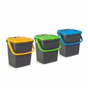 Pattumiera Ecoplus Capacità 20 Litri Con Coperchio in Vari Colori Arancione Verde o Blu Casa Indifferenziata
