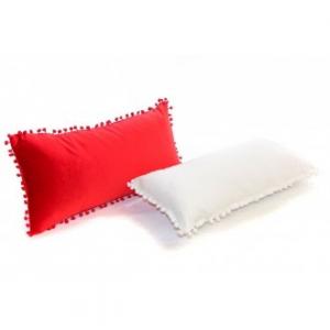 Cuscino in Cotone Velvet Rettangolare misura 30x60 Colori Assortiti