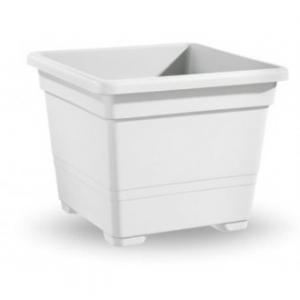 Veca Vaso Quadrato Bianco 45 cm Per Piante e Fiori da Giardino