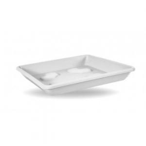 Sottovaso Quadrato Bianco 42 cm Adatto a Vasi Quadrati Per Piante e Fiori da Giardino