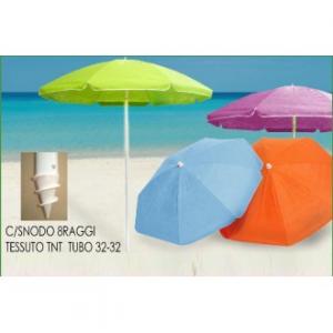 Ombrellone Da Spiaggia Con Snodo 200 Cm In TNT Disponibili in Colori Fluo Resistente Estate Mare