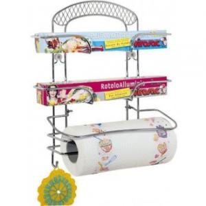 Artex Kitchen Porta Rotolo di Carta & Pellicole Varie Da Appendere In Cucina Acciaio Cromato