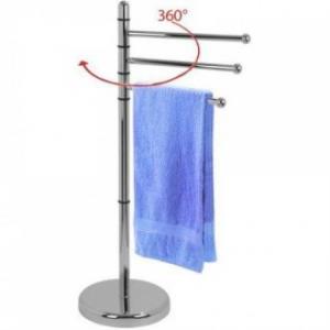 Artex Piantana Porta Asciugamani Ring Rotazione 360° Accessori Per il Bagno