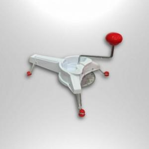 Borella Mistral Affettaverdure con 3 Dischi E Manopola Bianco con Dettaglio Rosso Utensile
