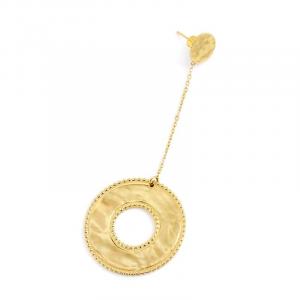 Marlù Mono Orecchino Vision, pendente tondo Gold