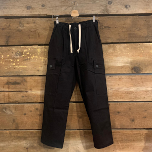 Pantalone Bakery Wichita In Gabardine Con Tasconi Fondo Largo Nero