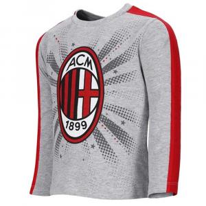 Maglietta taglia 24 mesi Milan stemma manica lunga