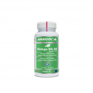 Airbiotic Ginkgo-Vit Ab Complex 6000 Con Acid 30 Tabletas