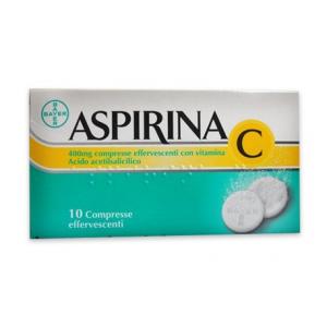 ASPIRINA C 10 COMPRESSE EFFERVESCENTI 400 + 240 MG