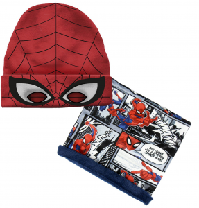 Cappello Spiderman con scaldacollo veste da 3 a 7 anni