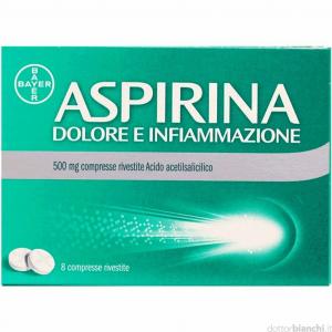 Aspirina Dolore e Infiammazione 500 mg - 8 compresse rivestite
