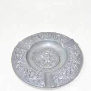 Posacenere In Metallo Raffigurante Dio Greco 15cm