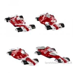 Magnete Formula Uno Ferrari rossa in resina 7.5x3 cm - Bomboniera comunione bimbo