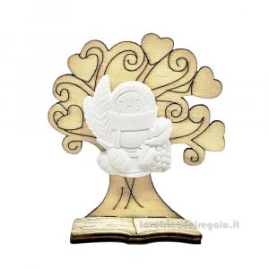 Albero della Vita in legno con gessetto icona Calice 6x7 cm - Bomboniera comunione