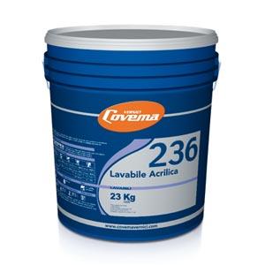 Covema s236 pittura acrilica lavabile bianca per interni kg1