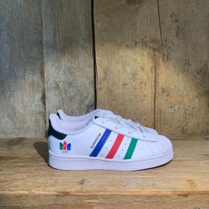 Scarpa Adidas Superstar EL I Bianca e Multicolor