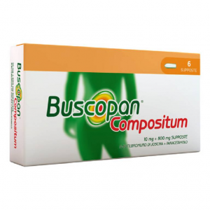 Buscopan Compositum 10 mg + 800 mg - 6 supposte