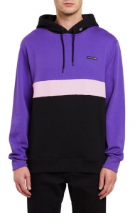 Felpa Volcom Single Stn Div Crew Cappuccio Purple